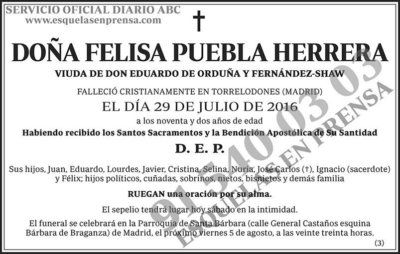Felisa Puebla Herrera